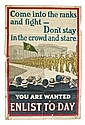 IRISH WORLD WAR I PROPAGANDA POSTER (c.1915)