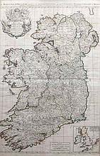 ALEXIS HUBERT JAILLOT Le Royaume D'Iralande (Map