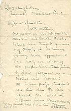 ROBERT CHILDERS BARTON (1881-75)  An ALS to my dear Hamilton
