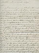 FAMINE LETTERS, SLIGO DISTRICT  A long autograph signed letter, 3 pp fo
