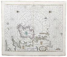 Pieter Goos, 1615-1675, Amsterdam  Paskaarte  A seachart of Ireland
