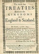 SCOTLAND, Commissioners For / ENGLAND, Commissioners For - The three late t