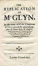 GLYN, Sir John.    The replication of Master Glyn in the name of all the Co
