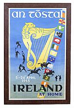 An Tostal Poster c.1953  Designed by Guss Melai  Inscribed Ireland