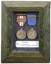 MEDALS AWARDED TO J. BRENNAN  His 1939-46 Emergency medal for the Local