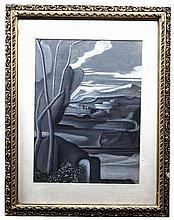 GAETANO DE GENNARO (1890-1959)   War  Pastel, 31 x 24cm  Signed