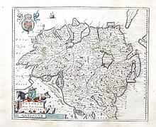 William Blaeu, 1571-1638, Netherlands  A map of Ireland and partial wes