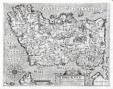 William Camden, 1551-1623  Hiberniae Ireland Anglis Yverdon  A map