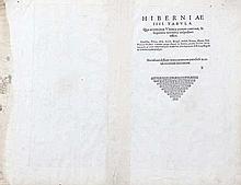 Gerard Mercator, 1512-1594  Irlandia Regnum - The north half of this tw
