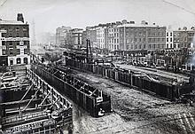 OƒCONNELL BRIDGE    An early panoramic photographic print, circa 18