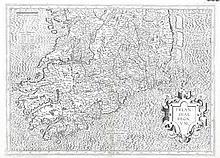 Gerard Memcator, 1512-1594  Irlandiae Regnum  Ireland the lower hal