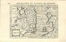 Petrus Bertius, 1565-1629  Minature maps of Ireland and the Four Provin