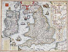 Johannes Baptista Vrints, 1574-1610, Antwerp  A map of Ireland and the