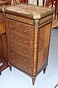 An unusual circa 1900 French kingwood veneered and
