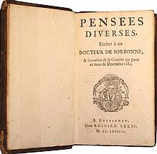 First edition of Bayle's Pensées diverses on the comet of 1680