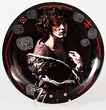 Very rare ceramic plate, with a photograph by Erwin Olaf