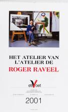 Inscribed copy of Heirman's photo calendar of Raveel's studio