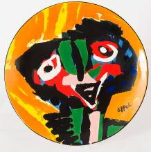 Karel Appel's Dancing Girl, Ceramic Plate III, one of 25 copies only