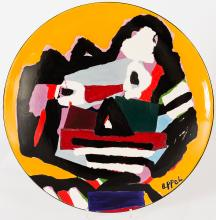 Face, after Karel Appel, a ceramic plate issued in 25 copies only