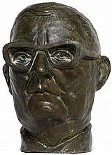 Unknown bronze portrait of Shostakovich