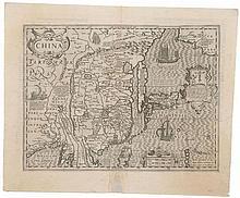 The scarce Hondius map of China