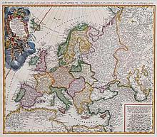 Beautiful map of Europe