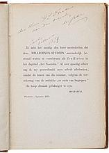 Rare autograph inscription by Multatuli to his publisher