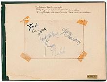 Original autographs of The Beatles
