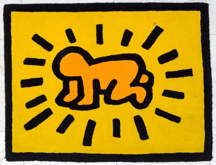 Radiant Baby Rug After Keith Haring