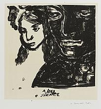 A long silence, lithograph by Marlene Dumas