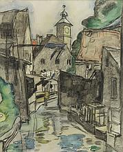 Munich, watercolour by Jaap Gidding