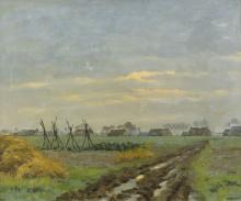 Near Deurze (Drenthe), oil painting by Adriaan Vermeulen