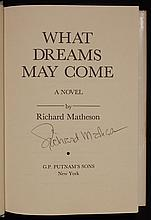 Matheson, Richard.  [Signed] What Dreams May Come