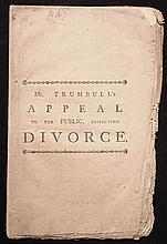 [Early American Imprint] Trumbull, Benjamin.  An Appeal to the Public, Especially to the Learned, With Respect to the Unlawfulness of Divorces....