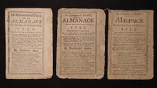 [Group of 3]  Ames, Nathaniel.  Astronomical Diary:  Or, Almanack for... 1751-1753