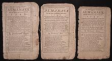 [Group of 3]  Ames, Nathaniel.  Astronomical Diary:  Or, Almanack for... 1745-1747