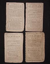 [Group of 4]  Ames, Nathaniel.  Astronomical Diary:  Or, Almanack for... 1740-1743