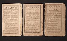 [Group of 3]  Ames, Nathaniel.  Astronomical Diary:  Or, Almanack for... 1762-1764