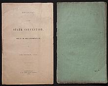 [California, Secession]  Journal of the State Convention, Held in Milledgeville...1850