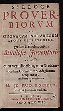 Proverbs, Maxims, Lore [Group of 3]