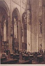 Axel H. Haig (Swedish, 1835-1921.)  Cathedral interior