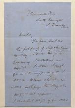 John Everett Millais.  Manuscript signed letter