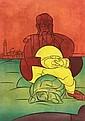 Valerio ADAMI (né en 1935) Homme à la tortue.