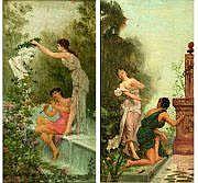 BAUDRY Paul (1828-1886) Scènes pastorales Deux