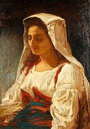 Ecole du milieu du XIXe siècle Ce tableau