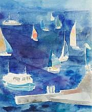 Pierre GARCIA-FONS (né en 1928) La régate.