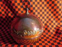 1981 Wallace Annual Silver Plate Sleigh Bell Christmas Ornament Decoration