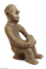 Igbo Clay Shrine Figure Seated Nigeria Africa