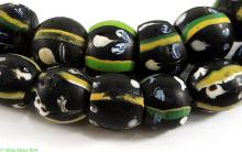 Ghost Venetian Trade Beads African 40 Inch