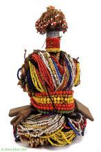 Fali Beaded Fertility Doll Cowrie Shells Cameroon Africa